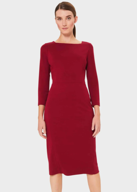 red dress from Hobbs