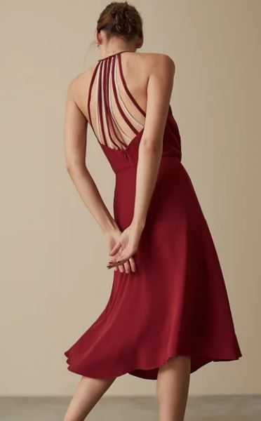 Deep red stylish dress